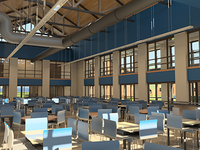 new dining hall in new res halls