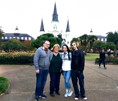 Cody Dally, Chef Sue Roth, Julia Craig and Daniel Noonan in New Orleans