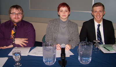 Student Senate Team:  Dylan Vernon, Emily Hain and Patrick Grifone