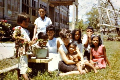 Dr. Letitia Lladoc in the Peace Corps in the Philippines in the '60s.