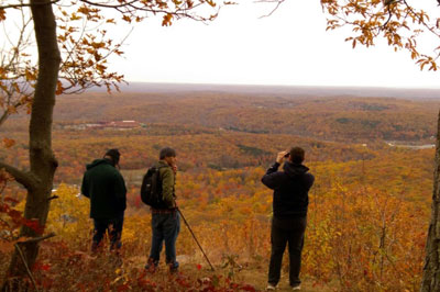 NCC Science Club members observe the views from Big Pocono's Indian Trail.