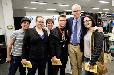 Bill McKibben with NCC students