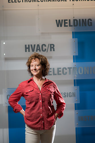 Karen Parker at NCC's Hartzell Technology Hall