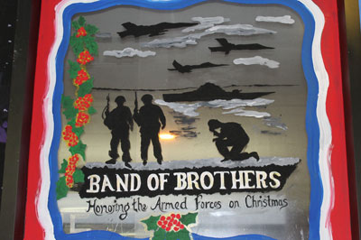Band of Brothers Club Holiday Window